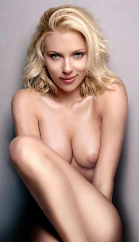 Scarlett Johansson Actress Nude Sexy Boobs Photo
