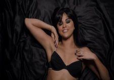 Selena Gomez Sexy Cleavage Hot Lingerie On Bed
