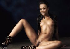 Zoe Saldana Nude Pussy Topless Pics