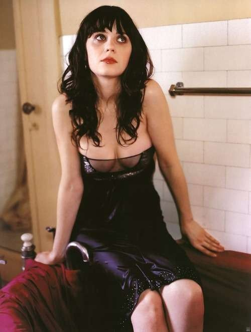 Zooey Deschanel Nude Images Sexy Dress Boobs Photo
