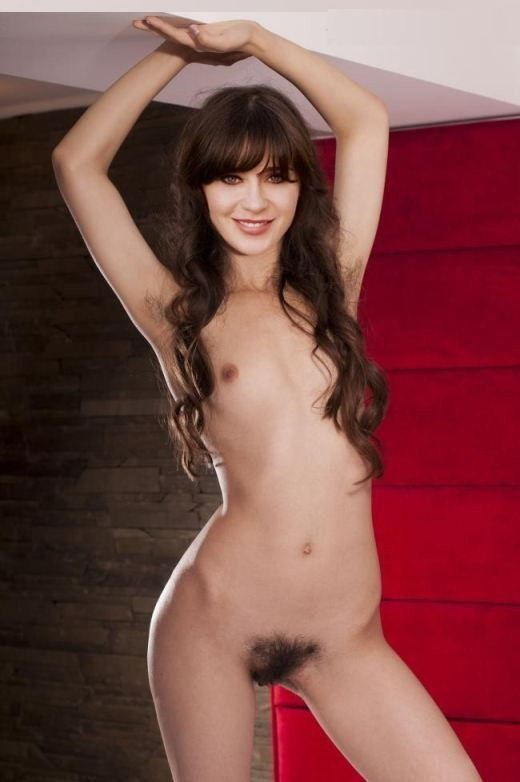 Zooey Deschanel Nude Sex Naked Hairy Pussy Photo
