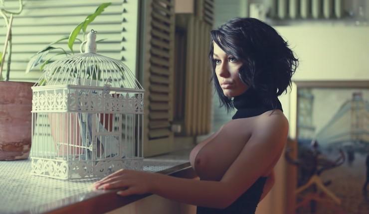 Beautiful Brunette Breasts Perfect