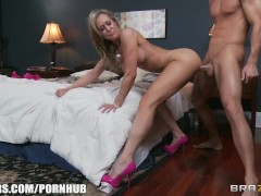 Busty Blonde Milf Brandi Love Fucked By Big Hard Cock