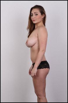 Busty Brunette Marketa Gets Nude For Czech Casting