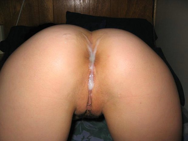 Cum On Ass And Pussy