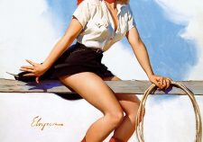 Gil Elvgren Cowgirl Pin Up