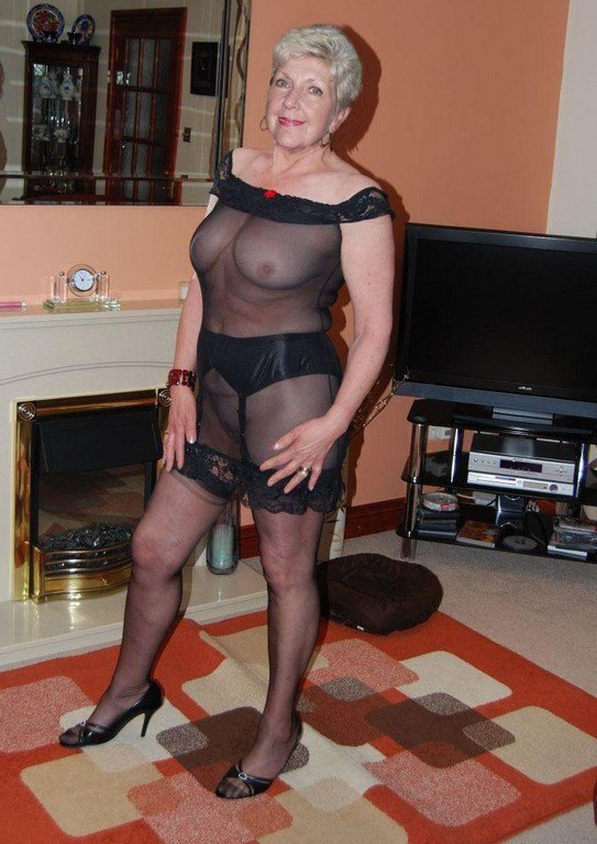 Granny see through lingerie simply