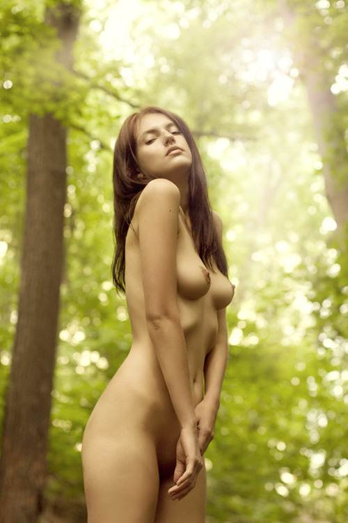 Naked Nudity In The Woods By A Female In Eager To Fuck