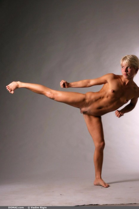 Nude Fitness Girl Martial Arts