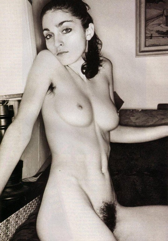 Old Bw Madonna Topless And Pussy Photo