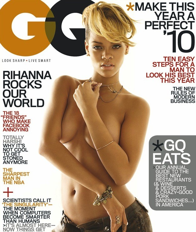 Rihanna Topless Magazine Cover