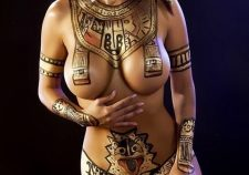 Sexy Egyptian Body Paint