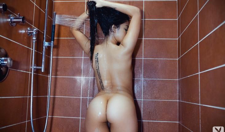 Shower Tattoo Roxann Celeste Playboy Erotic Girl Naked