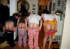 Teens Girls Group Mooning