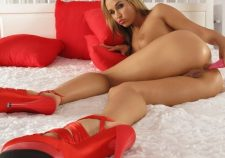 Tits Sexy Hot Pussy Naked Dildo Red