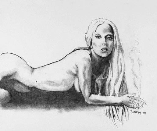 Tony Bennett Sketch Lady Gaga Nude