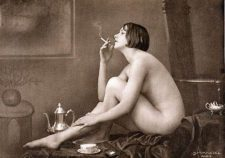 Vintage Nude Women Smoking