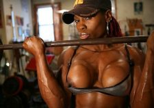 Big Black Female Bodybuilder Workout