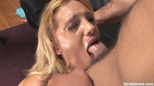 Blonde Slut Face Fucked